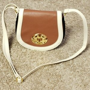 Emma Fox Crossbody Small Purse Black Brown White
